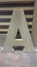 Cijfers en Letters van steigerhout v.a.  18 cm hoog  € 7,95 .......