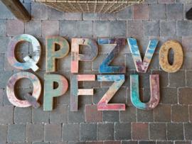 Letters van recycled hout > vintage & uniek