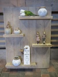 Wandbord / Decoratiebord van steigerhout  60 x 80 cm (in elk gewenste maat)