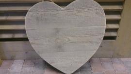 Hart van steigerhout aan stoer touw.... 60 cm