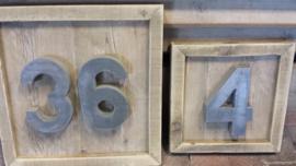 Wandbord met huisnummer , div uitvoeringen v.a. 30/30 cm