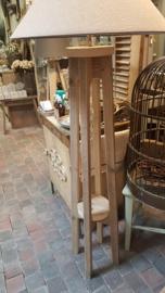 """Lampvoet van steigerhout > model recht  """" plantentafel """""""