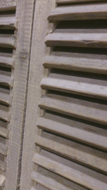 Louvre deuren / gebruikt steigerhout  , op maat gemaakt