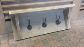 Kapstok van steigerhout met 3 stoere haken