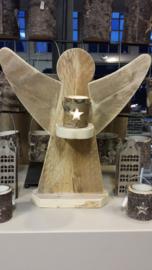 Engel van steigerhout , h 80 cm