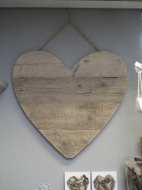 Hart van steigerhout 80 cm