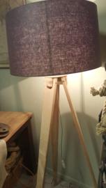 Lampvoet 3-poot statief van eikenhout