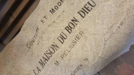 Shabby tekst doek / plaid 100 x 100 cm  Bon Dieu