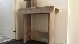 Kruk/Bankje van steigerhout  ( strak model )