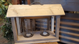 Lantaarn steigerhout - tafelmodel -