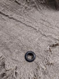 Shabby doek blanco gerafeld met zeiloog  50x50 cm