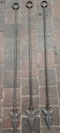 Festoenhouder / toefhouder solide metaal 75cm