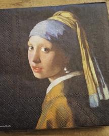 """Johannes Vermeer servetten """"Meisje met de Parel """""""