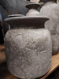 """Pot """" Bali """" Concrete afm h25x24cm"""