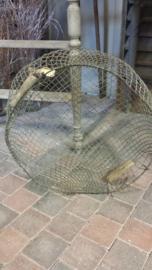 Oude draadmand / vismand > rond Ø 50 cm