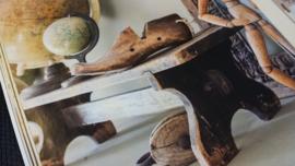 Steigerhouten - laag - decoratie bankje 80 x d 20 x h 28 cm