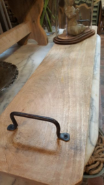 Serveerplank ( leuk voor tapas ) met handgrepen 95 x 20 cm