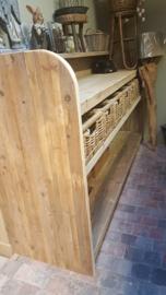 Sidetable steigerhout ( kan in elke maat) hier getoond met solide manden