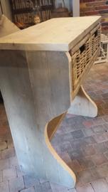 Sidetable van steigerhout met solide manden  br 80 x h 90 x d 40 cm