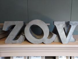 Zinken letters 18 cm ( de laatsten)