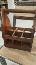 Flessenrek van oud hout met opener ( momenteel geheel uitverkocht ! )