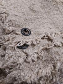 Shabby doek blanco gerafeld met zeiloog  60 x 40 cm