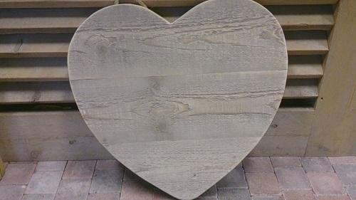 Hart van steigerhout 60 cm