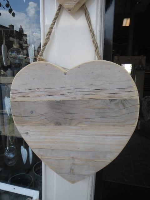 Hart van steigerhout 40 cm