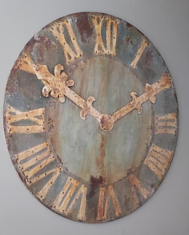 Klok 120 cm ( decoratie ) metaal oldlook
