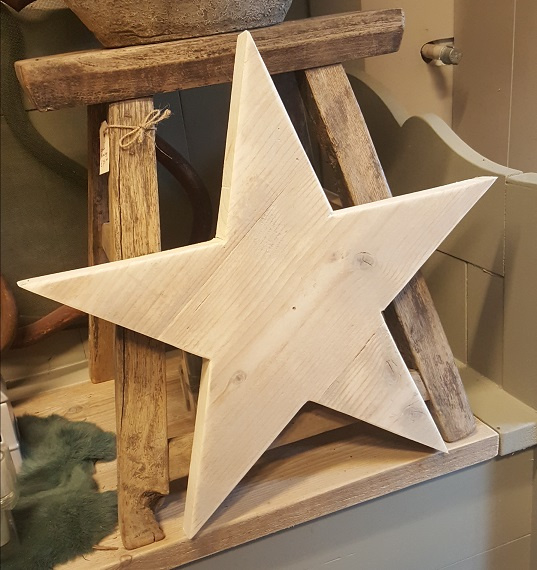 Ster van steigerhout > getoond 50 cm