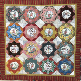 Reproduction fabric quilt kits