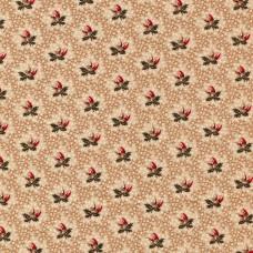 DHER1015 Lt Brown Flowers