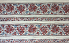 Gujarat cream border fabric 2m