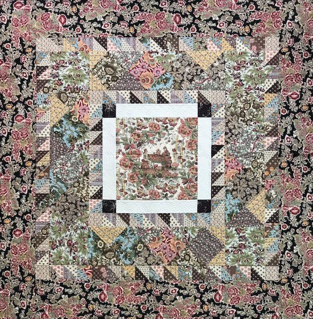 Chintz Patchwork Quilt ca1820