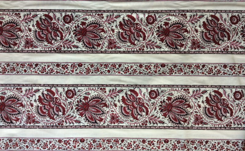China Red randstof / border print 2m