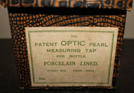 1920/30 's Whisky glas afvul instument, in originele doos