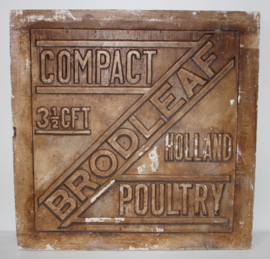 Oude Gipsen Stempelmal Brodleaf Poultry
