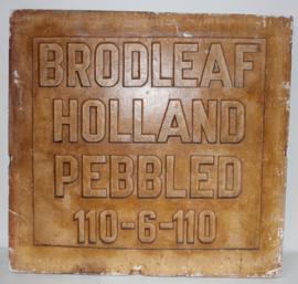 Oude Gipsen Stempelmal Brodleaf Holland