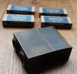 Oude Stereoscoop met 6 doosjes foto's