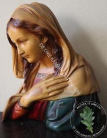 Maria beeld van Gips