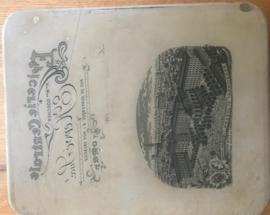 Diverse Lithografie stenen met afdrukken
