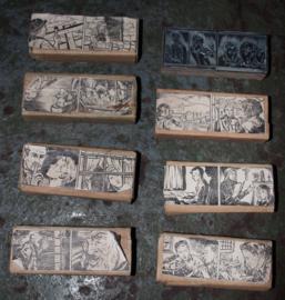 Oude Stempels  met een Stripverhaal voorstelling