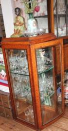 Mahonie houten Vitrine kast