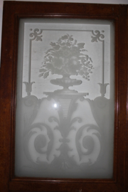 Twee binnen deuren met geëtst glas