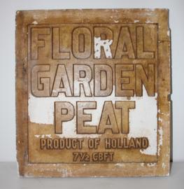 Oude Gipsen Stempelmal Floral Garden Peat