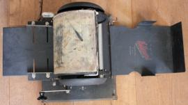 Oude draagbare stencil machine