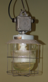 Kleine industriele draadlamp