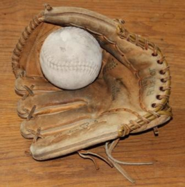 Vintage Lederen honkbal handschoen