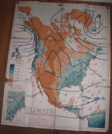 """Landkaart Noord America """"Climate"""""""