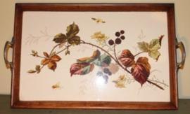 Dienblad met houten omlijsting